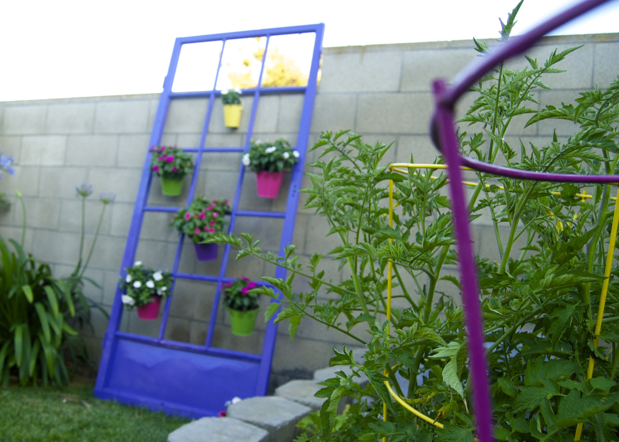And finally, here's the old metal screen door made new again!