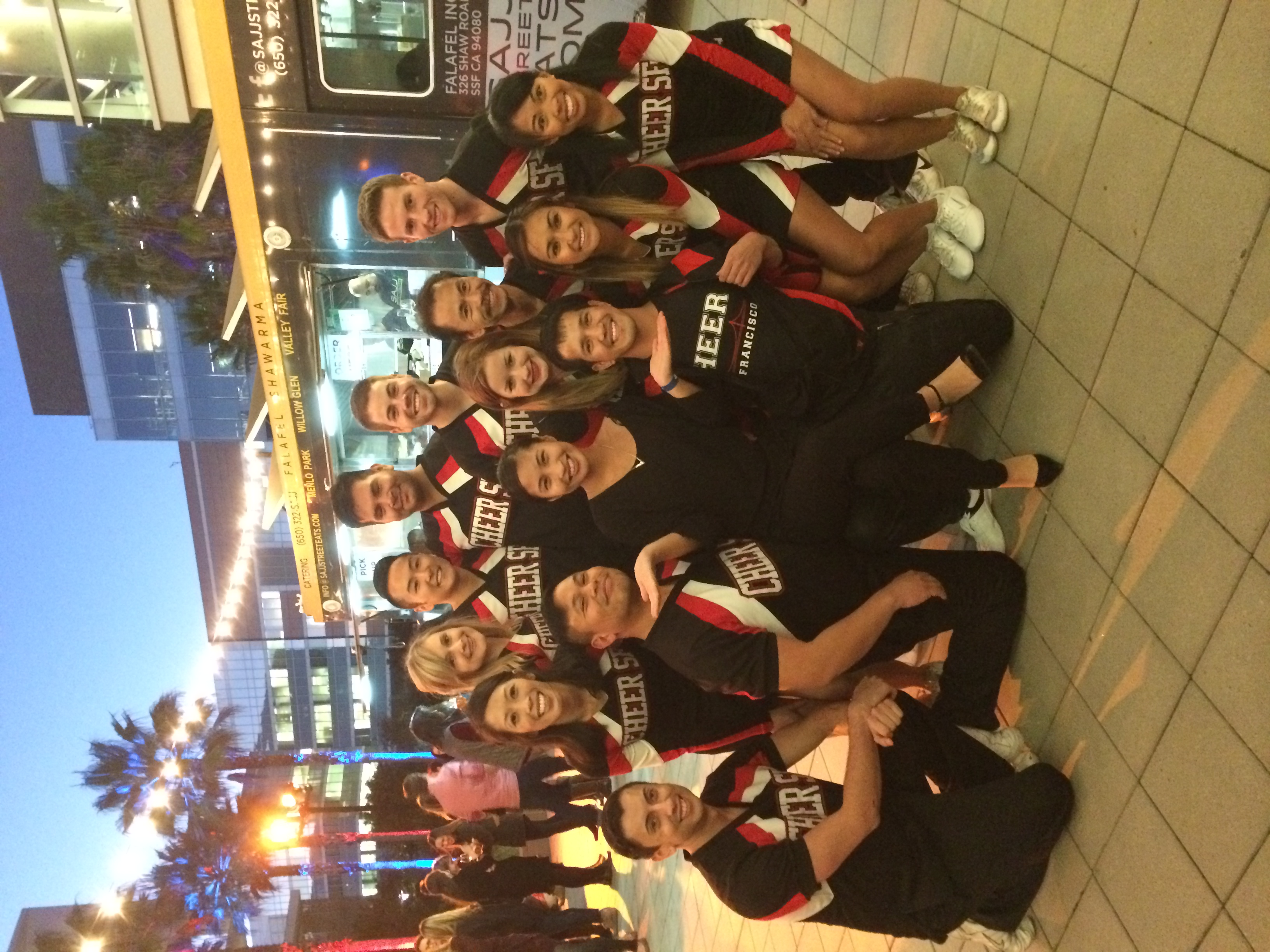 hanging with the Cheer SF squad