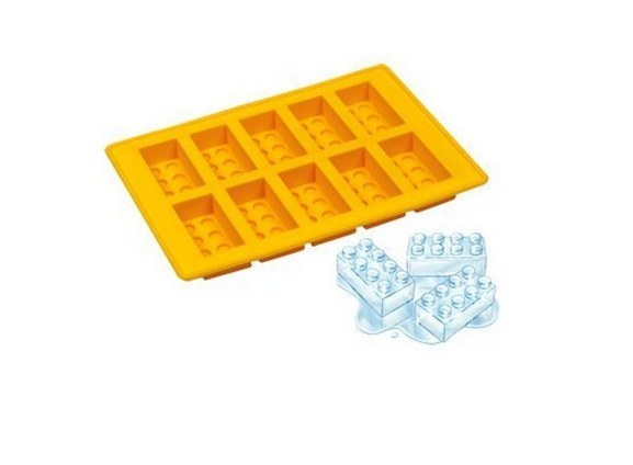 They are Lego shaped ice cube trays!