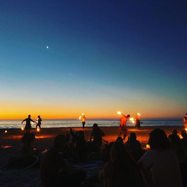 Fire 🔥 dancing 💃🏽 at sunset. #travel #sunset #capetown #firedancing #beach #experience