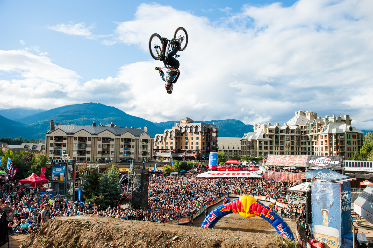 Kurt Sorge performs at Red Bull Joyride 2013 at Crankworx in Whistler, Canada on the 17th of August, 2013.