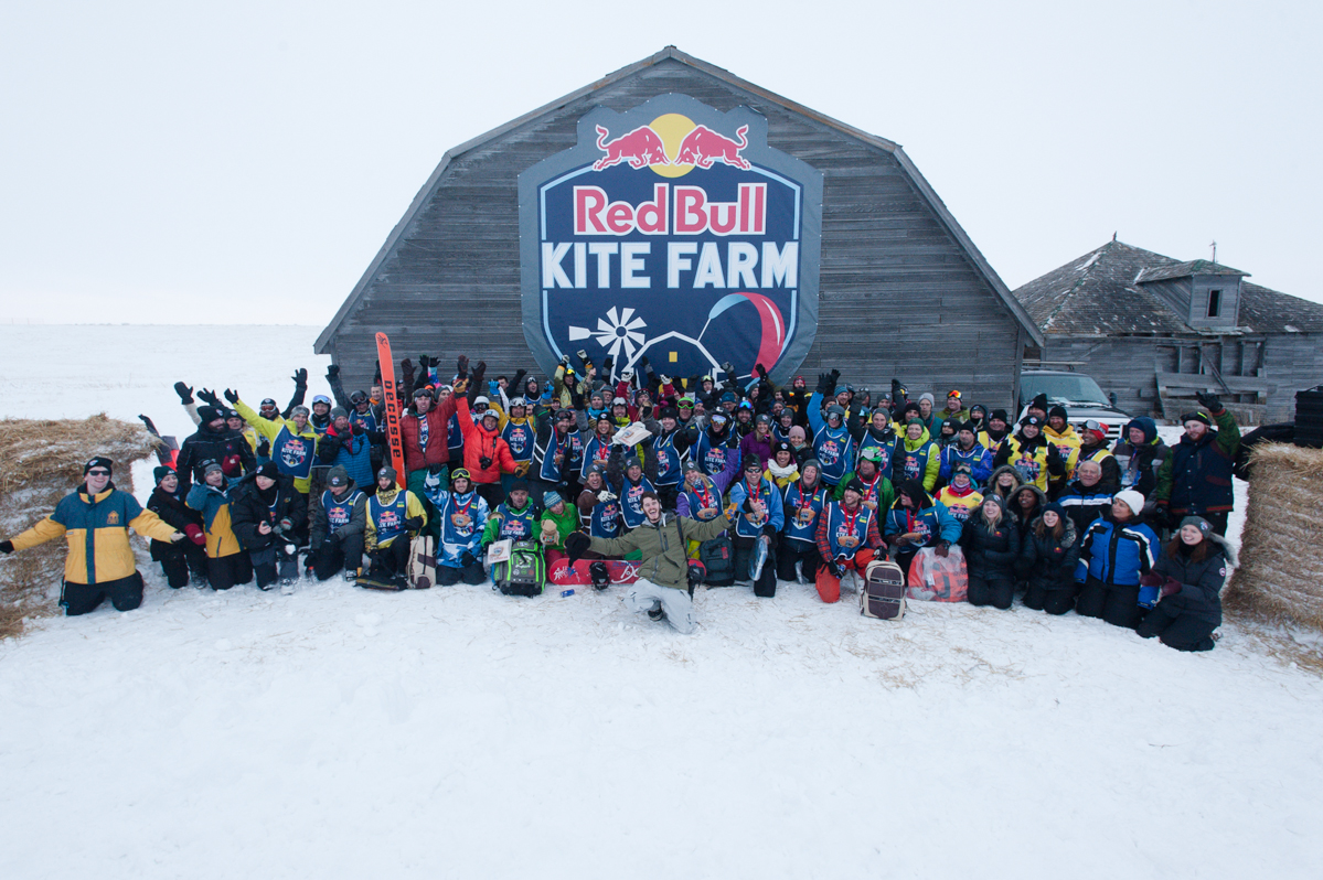 compete in Red Bull Kite Farm on a field in Regina, Canada on February 15th, 2015