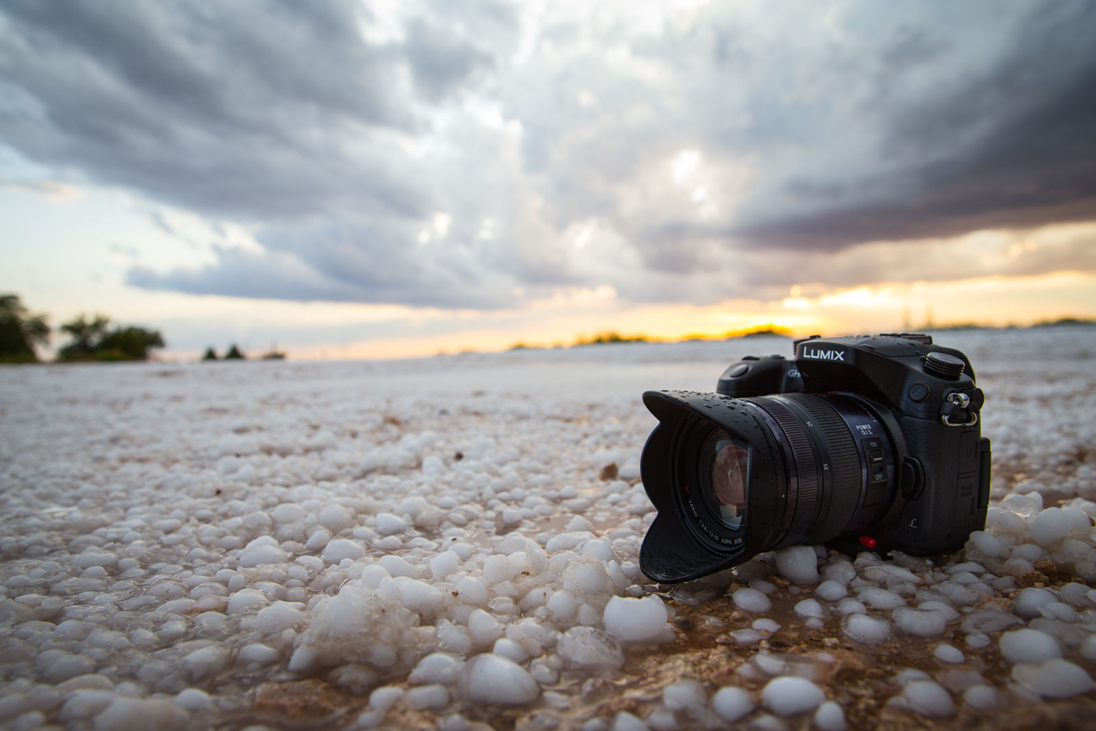 Panasonic GH4 chilling out after a punching a hail core in New Mexico