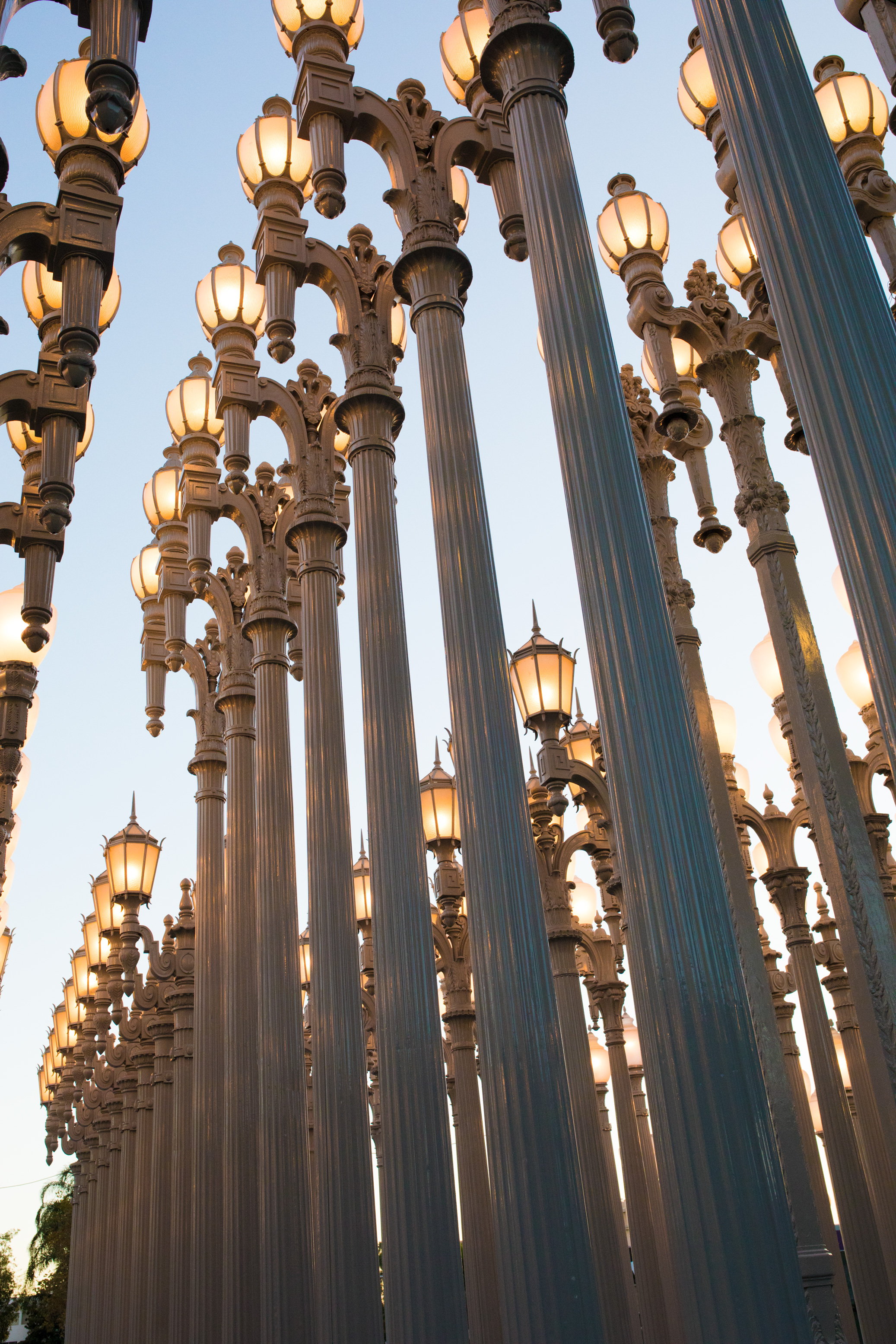 LACMA Lampost feature photography