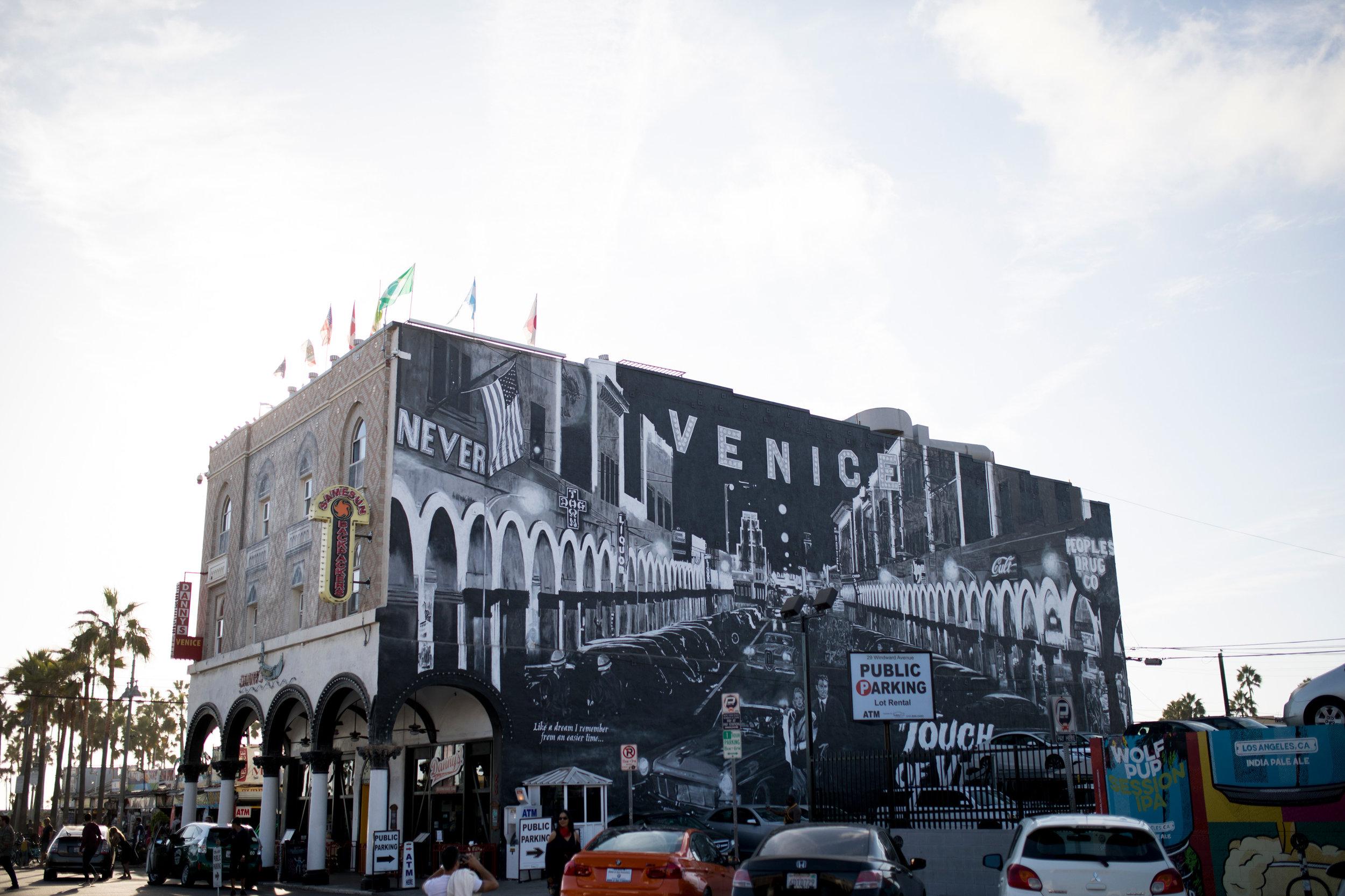Venice Beach city street art and photogrphy
