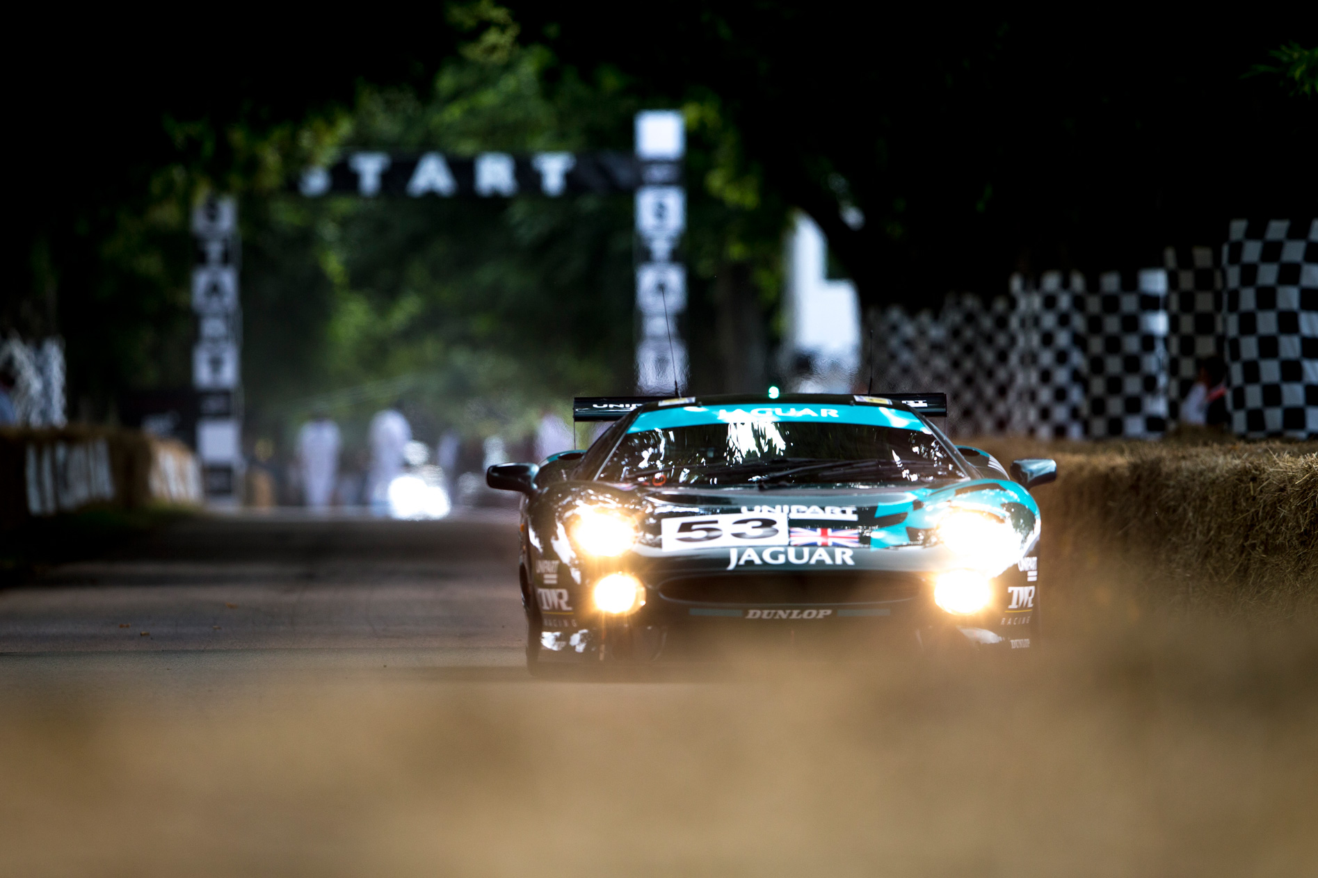 jaguar goodwood hill climb by Nicole Hains
