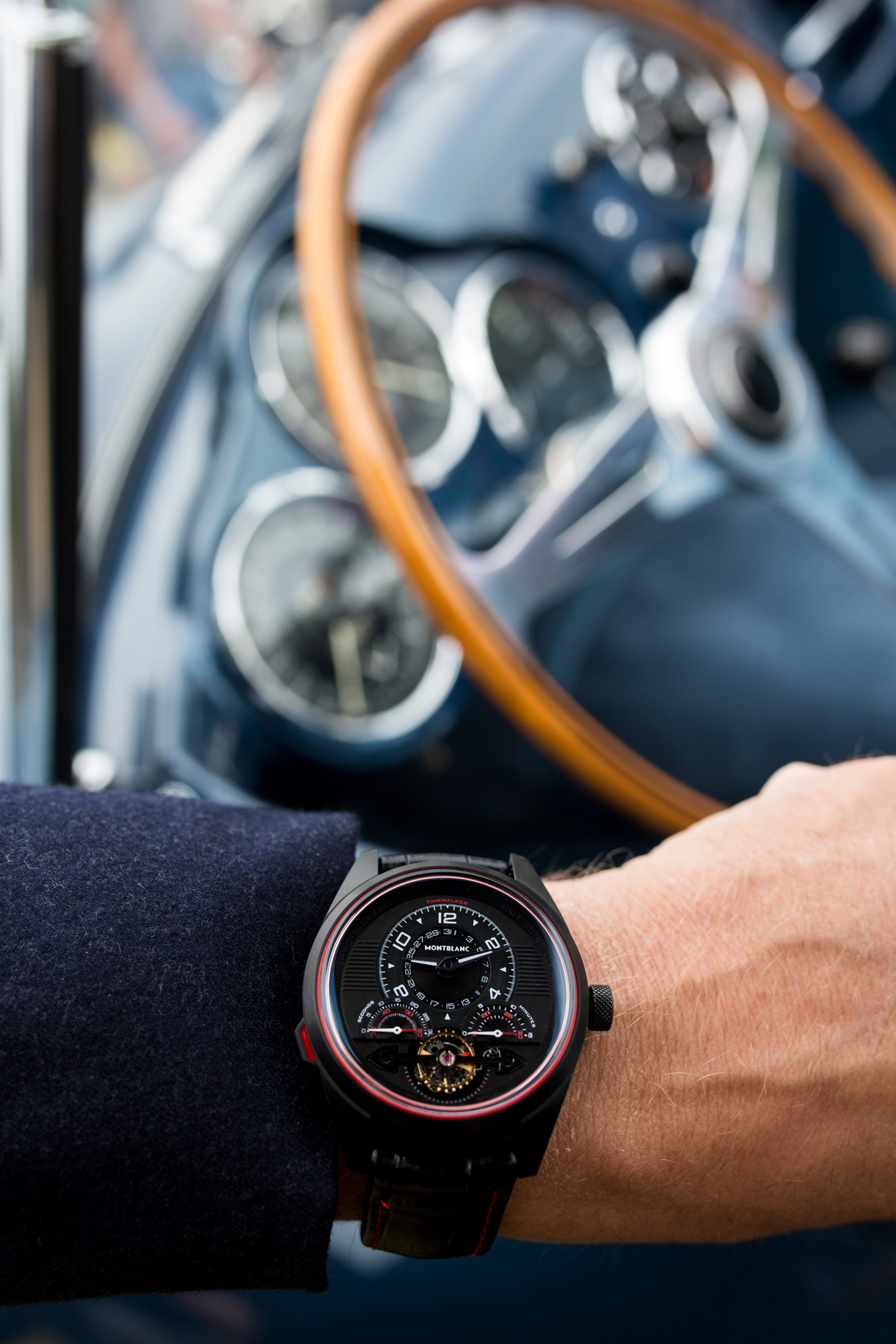Classic Car lifestyle shot for high end watch company
