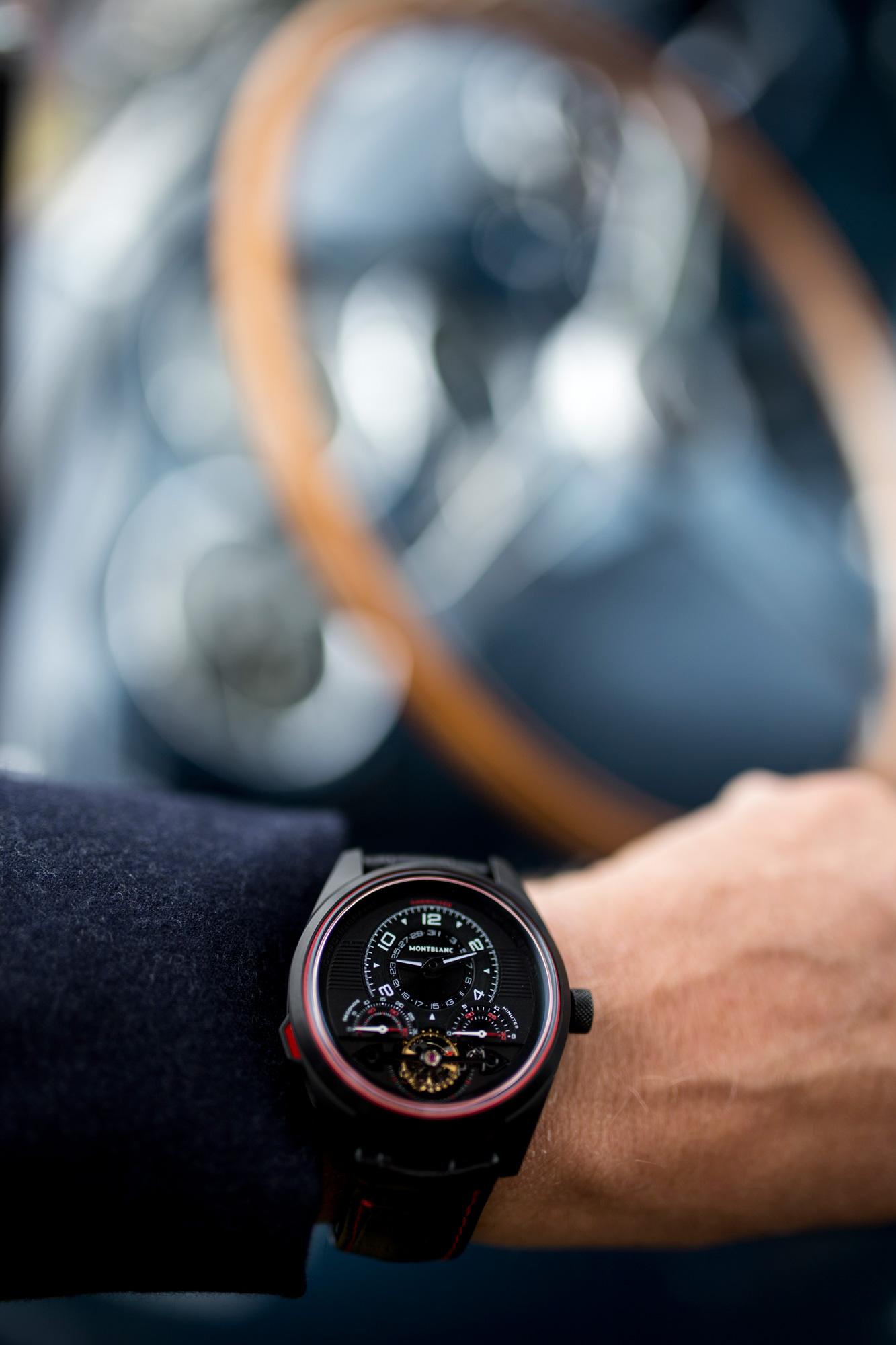Timewalker Exotourbillon limited edition 100 on classic car