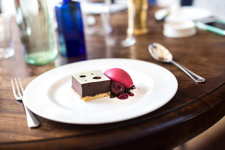 fun food photography at british hotel