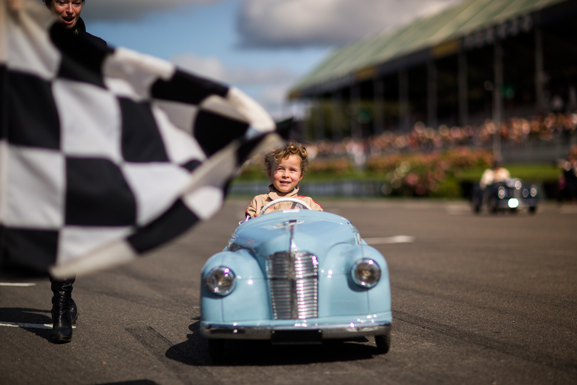Children race at goodwood motor circuit