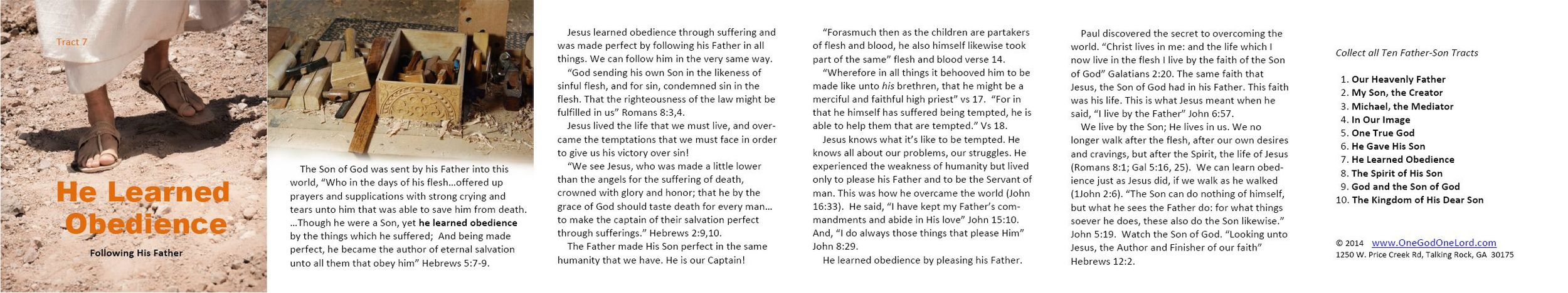 Tract 7 - He Learned Obedience