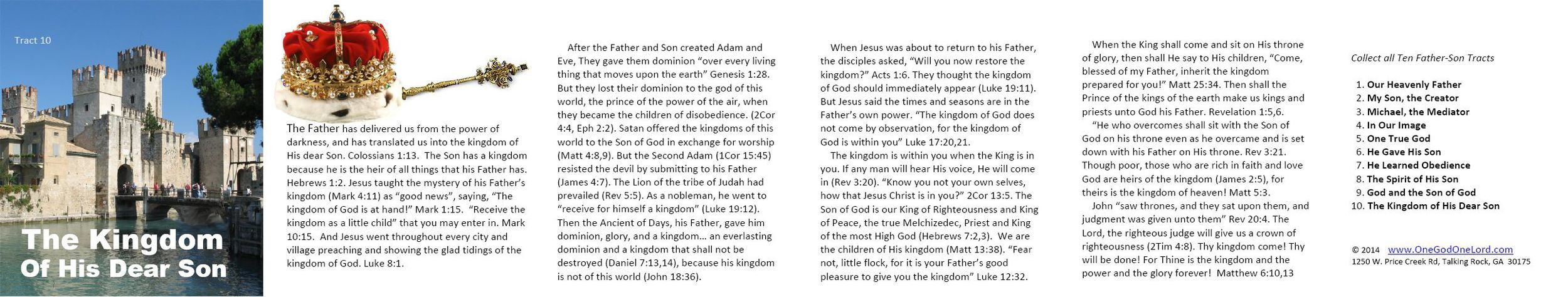 Tract 10 - The Kingdom of His Dear Son