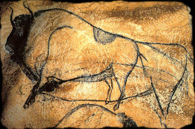 Created around 32,000 years ago, the art of Chauvet consists of Europe's oldest cave paintings. The cave was discovered quite recently, in 1994. The charcoal is not the only mark on the wall, frequently there are scratches incised into the rock surface itself. It is still unknown whether these incisions are made in conjunction with the drawings themselves. Also, each layer of drawing could be separated by thousands of years that were revisited and redrawn upon. http://www.faculty.umb.edu/gary_zabel/Courses/