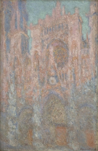 Claude Monet,  Rouen Cathedral, Red, Sunlight  1892  National Museum of Serbia Belgrade, Serbia.