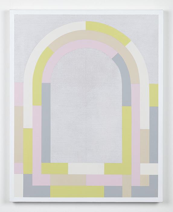 Archivolt - Fog  2018 Acrylic on canvas. 30 x 24 inches.