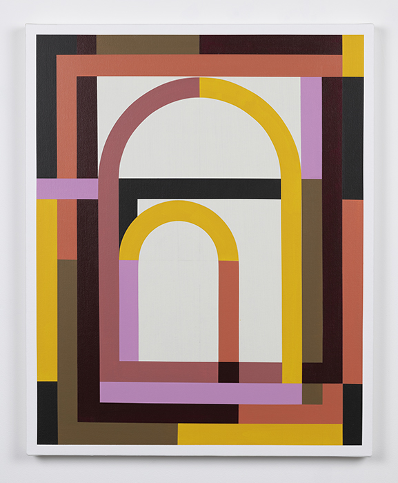 Solomon  2019. Acrylic on canvas. 30 x 24 inches.