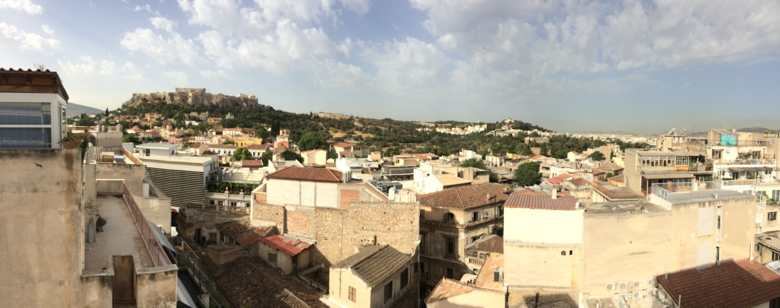 My view of the Acropolis as I write this from the rooftop of my hostel. I mean... it's nice enough.