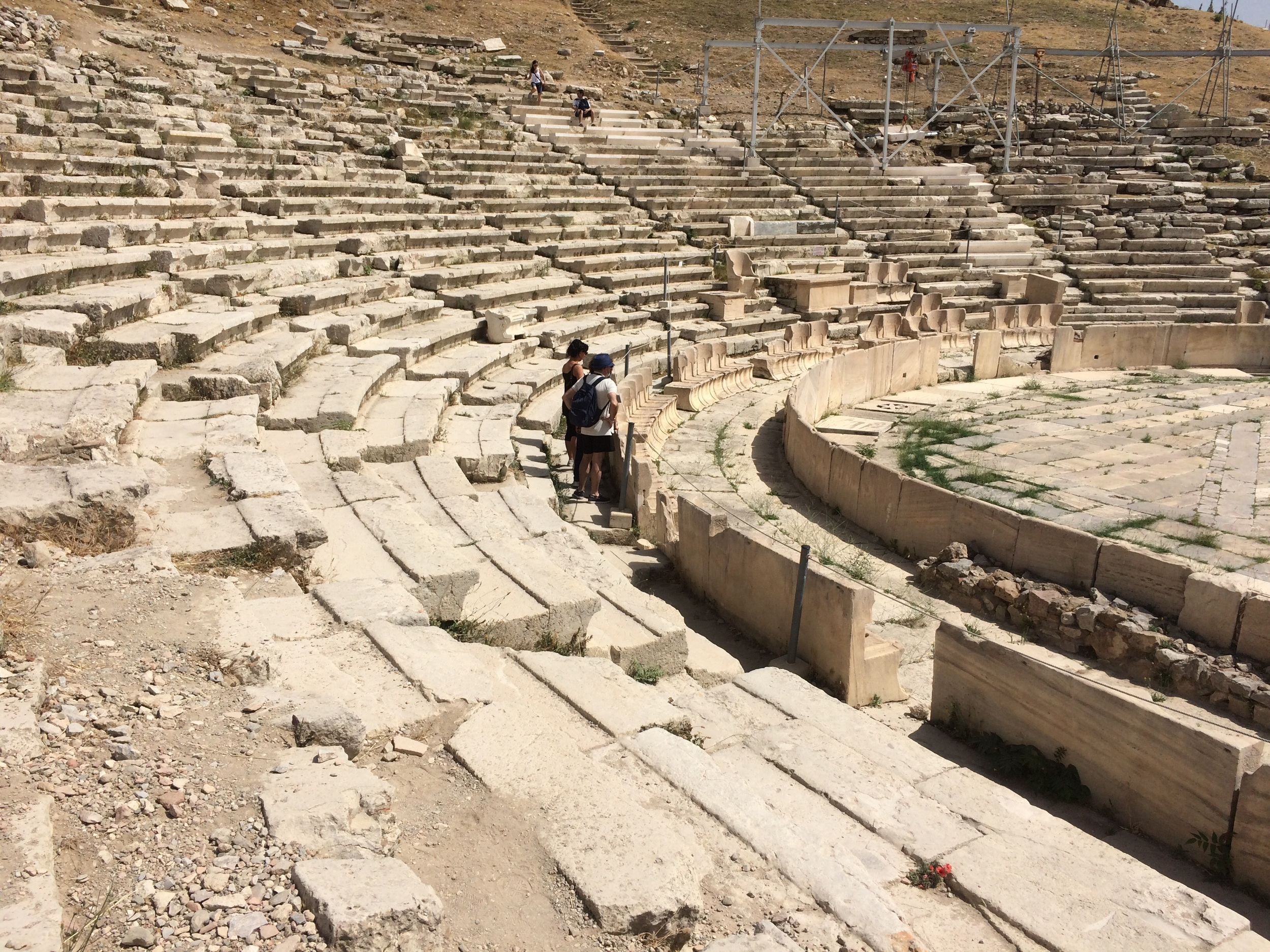 Ancient theater to Dionysus at base of Acropolis