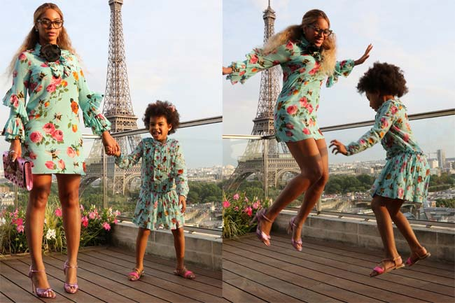 Beyonce and Blue in Paris