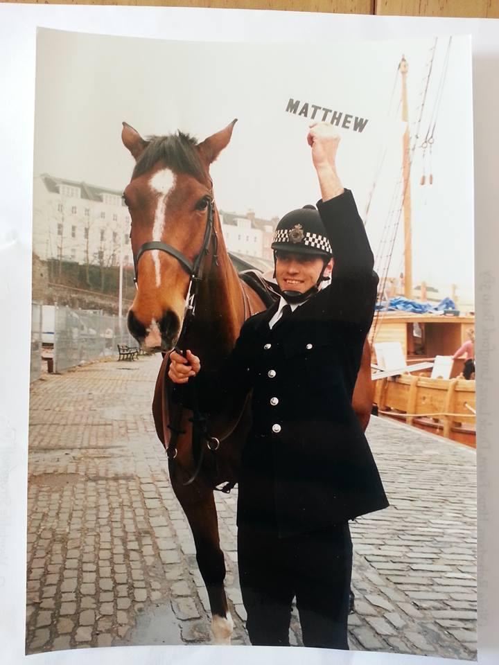 Matthew with Darryl standing outside the Matthew Boat in Bristol.jpg