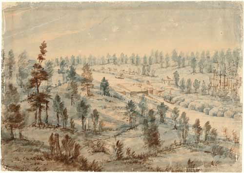 """Painting used with kind permission from Archives of Ontario. """"Davis"""" ca. 1845 (Archives of Ontario, C 232-0-0-0-17)"""