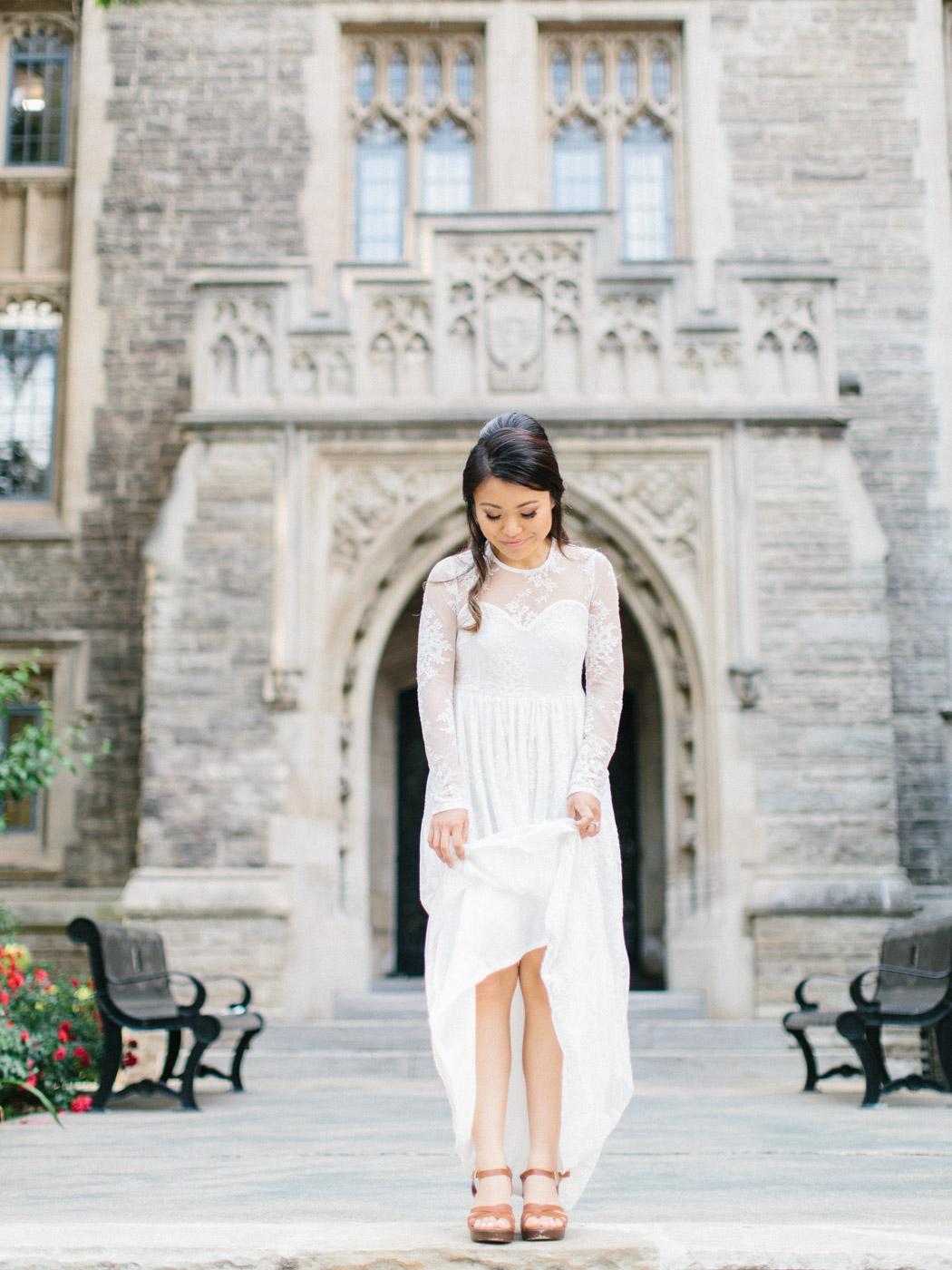 Toronto Wedding Photographer Engagement Photographt at McMaster University in Hamilton