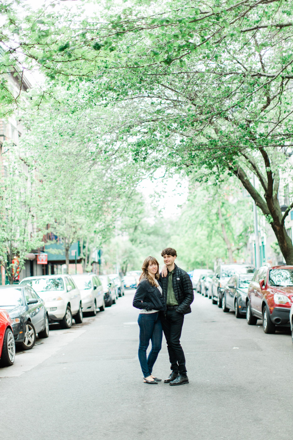 Toronto wedding photographer travels to New York to take engagement photographs.