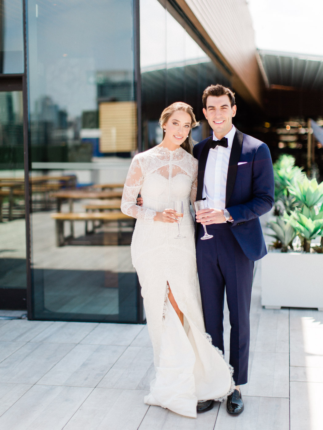 -	Candid natural portrait of bride and groom. Traditional Sunday Jewish wedding at Lavelle Restaurant in downtown Toronto.  Captured by downtown Toronto wedding photographer Corynn Fowler Photography.
