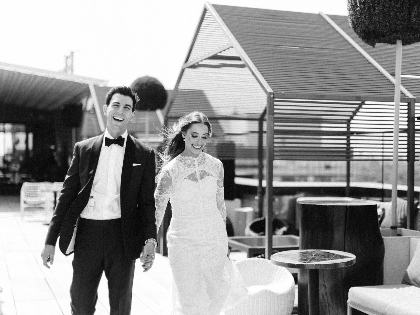 -Candid natural portrait of bride and groom. Traditional Sunday Jewish wedding at Lavelle Restaurant in downtown Toronto.  Captured by downtown Toronto wedding photographer Corynn Fowler Photography.