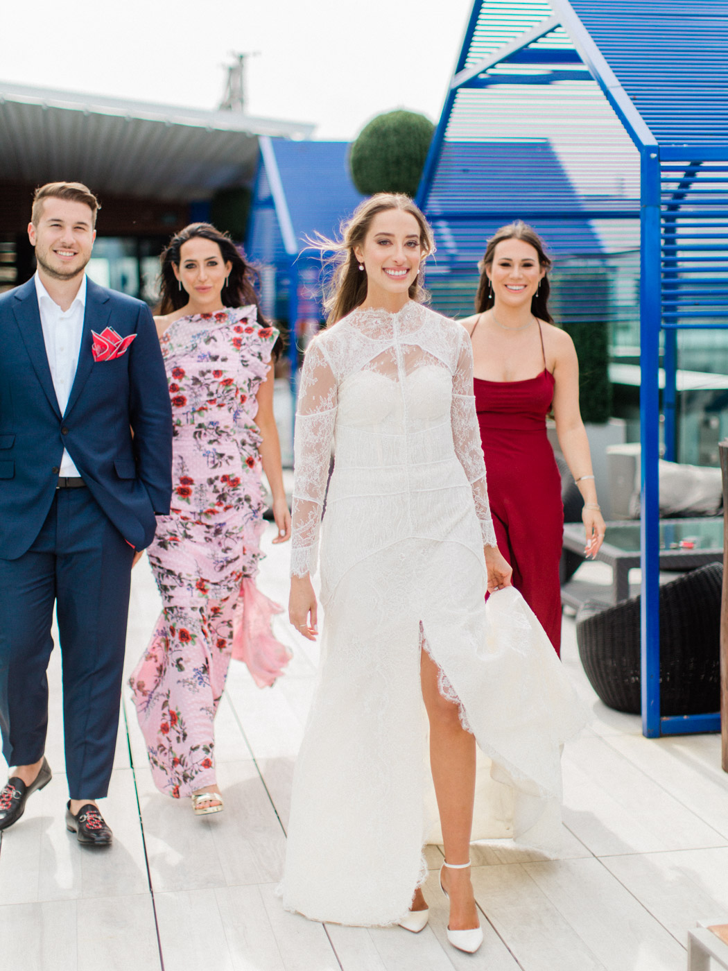 -Candid natural wedding party photographs. Traditional Sunday Jewish wedding at Lavelle Restaurant in downtown Toronto.  Captured by downtown Toronto wedding photographer Corynn Fowler Photography.