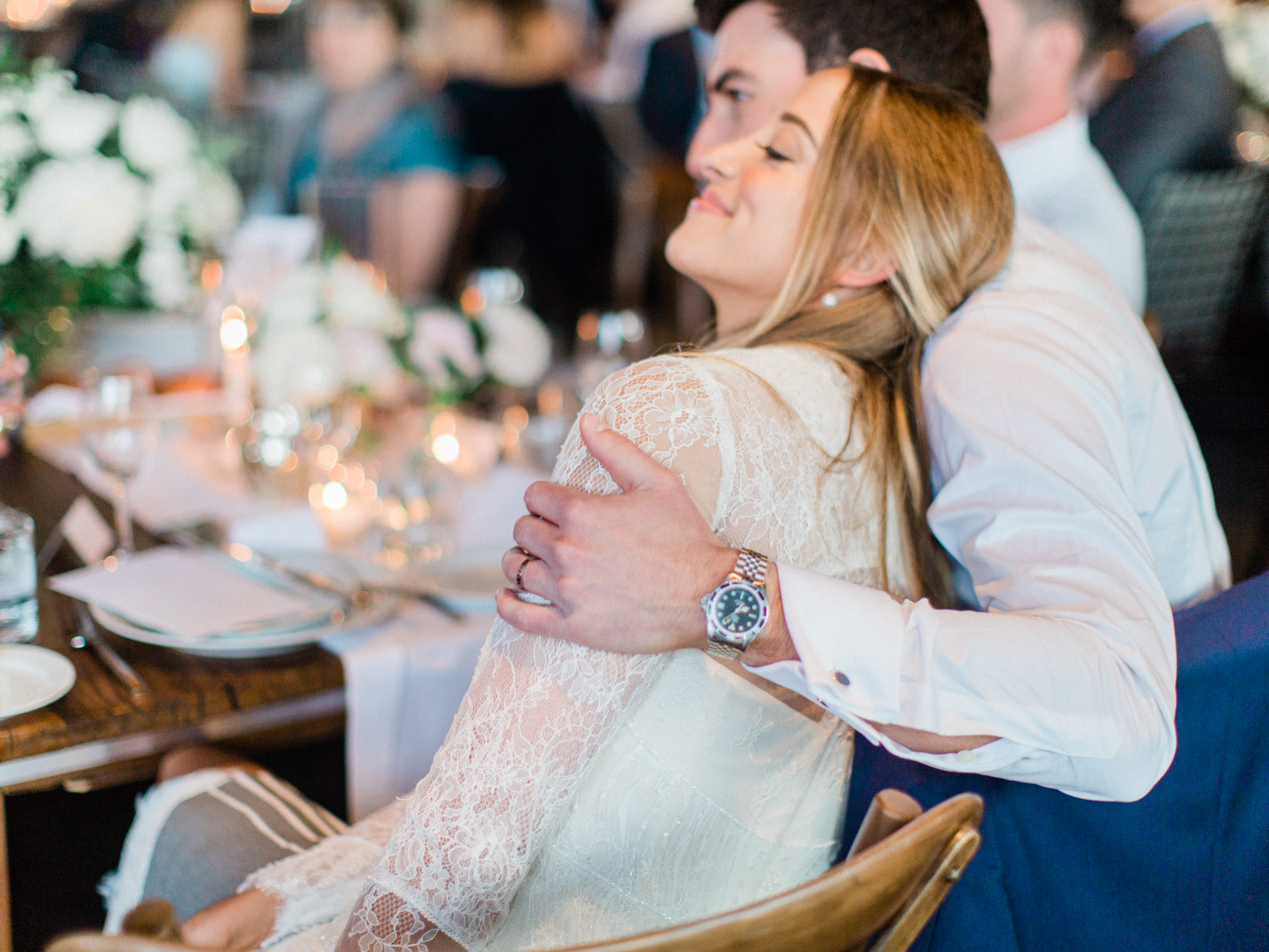 Candid reception photographs. Captured by Toronto wedding photographer Corynn Fowler Photography.