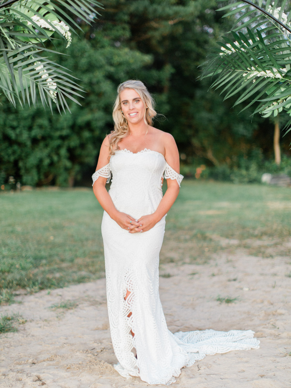 Tropical Inspired Intimate Backyard Collingwood Wedding