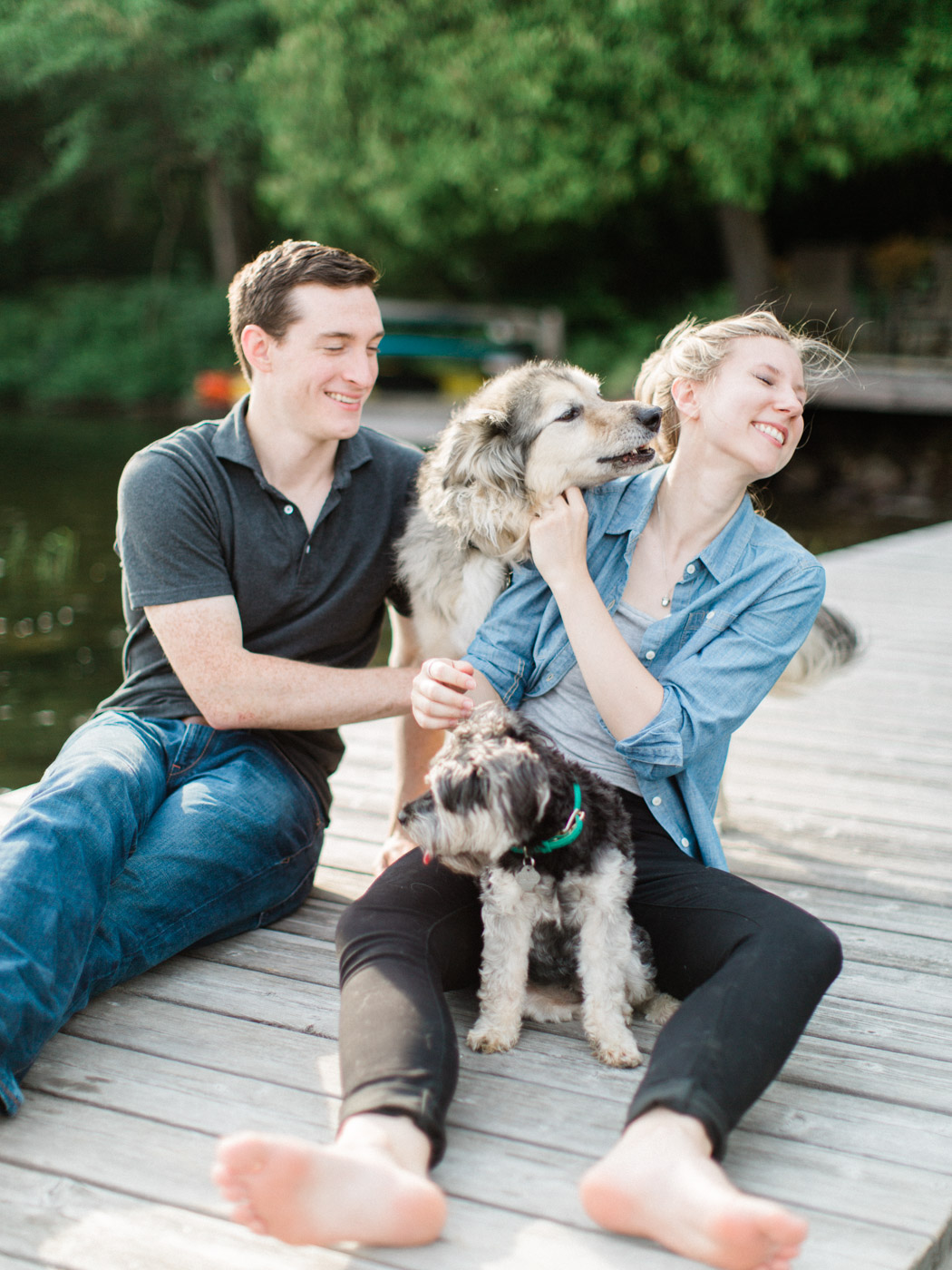 Muskoka Engagement Session with Dogs