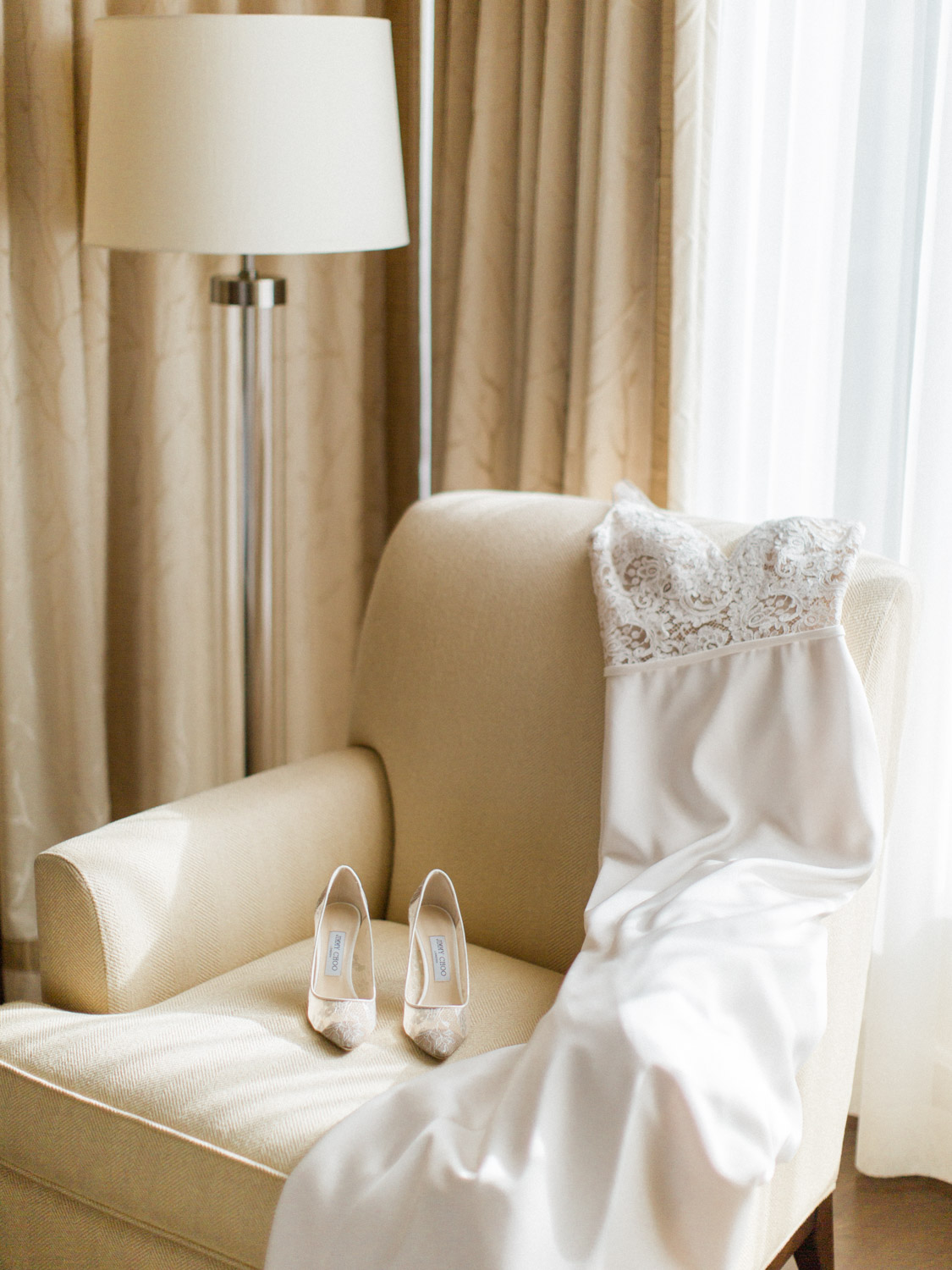 -	Fine art details of shoes, dress, and perfume from fall wedding at the Ritz Carlton, downtown Toronto.  Captured by Toronto wedding photographer Corynn Fowler Photography.