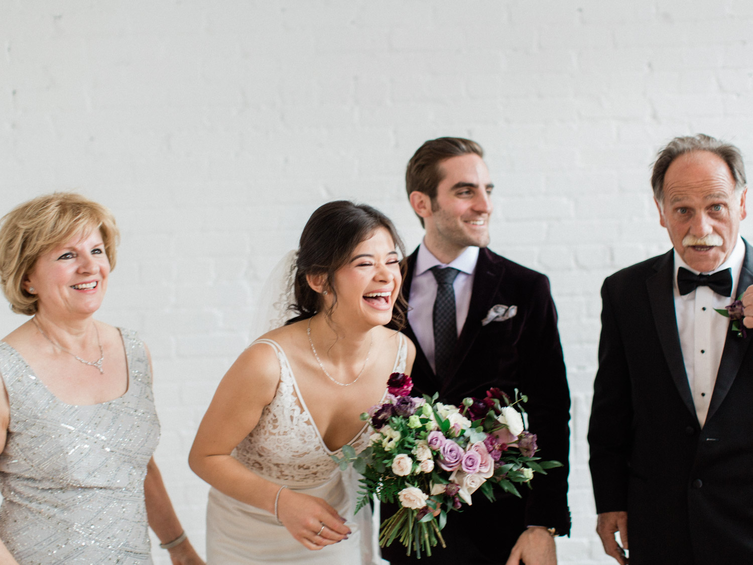 Candid natural portrait of the wedding party. Captured by Toronto wedding photographer Corynn Fowler Photography