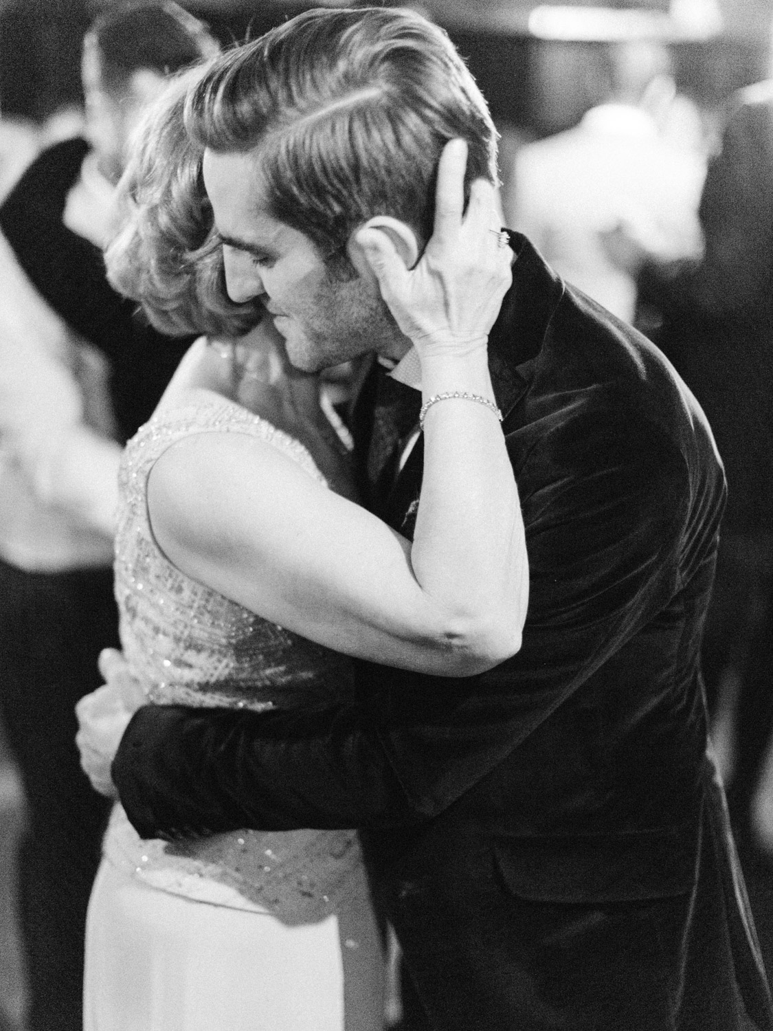 Emotional natural mother son dance photograph from intimate Italian wedding  at The Burroughes.  Captured by Toronto wedding photographer Corynn Fowler Photography.