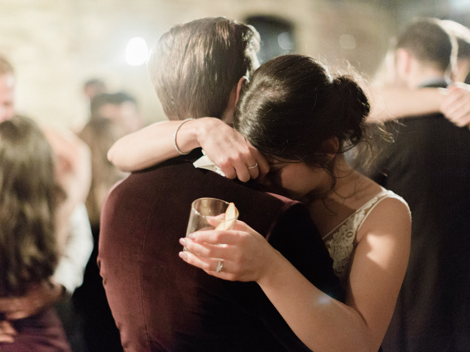 Beautiful first dance photograph of bride and groom at Italian winter wedding in downtown Toronto.  Captured by Toronto wedding photography Corynn Fowler Photography.