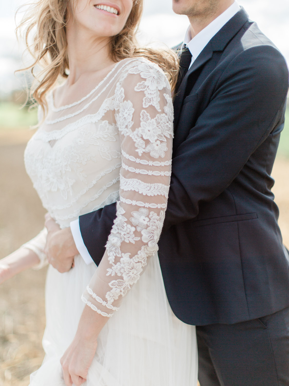 intimate outdoor fall wedding at a private estate in thornbury
