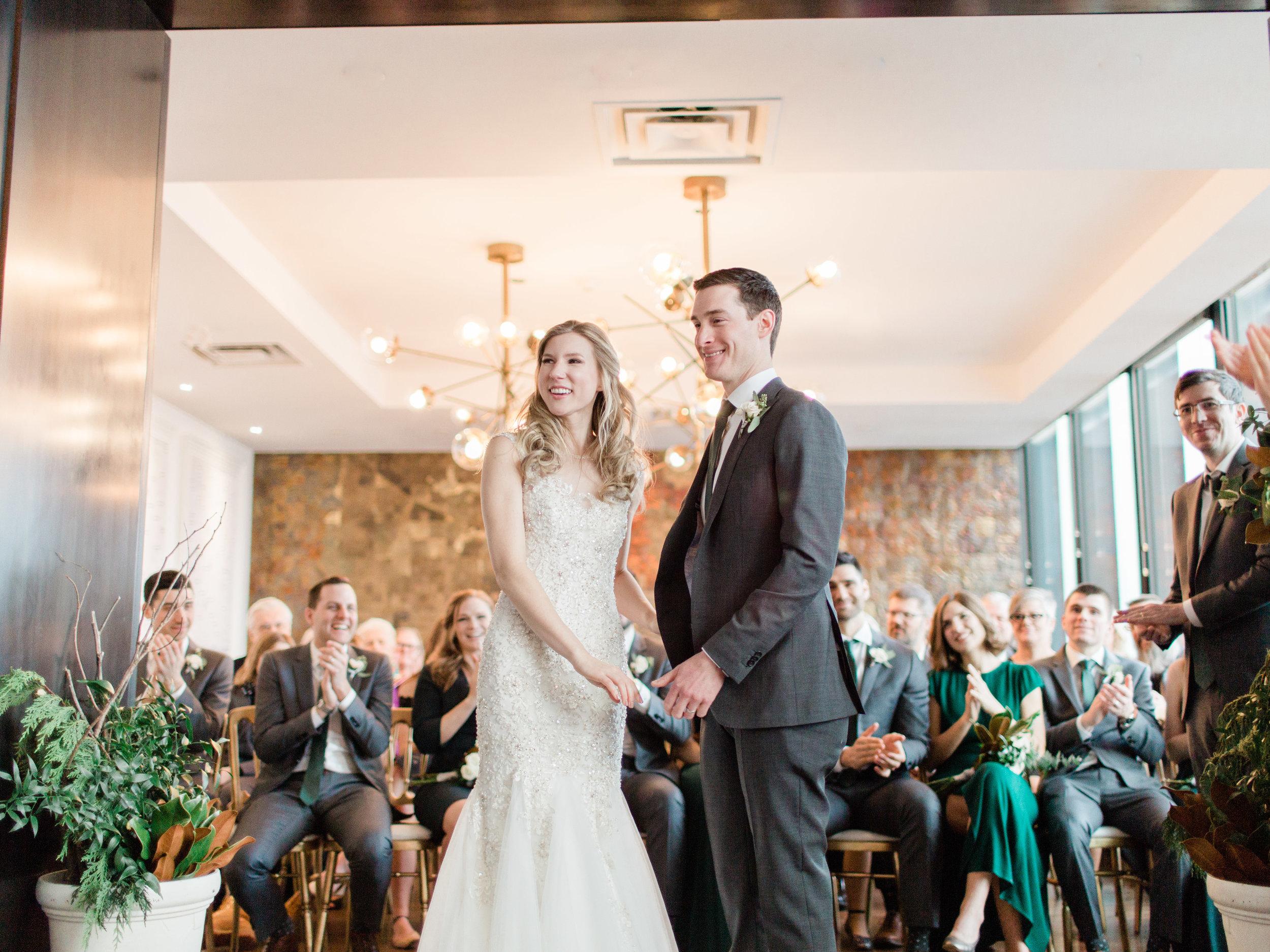 An elegant winter wedding in downtown Toronto at Allen Gardens and Canoe Restaurant, by toronto wedding photographer corynn fowler photography