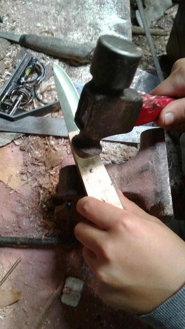 Peening the pins