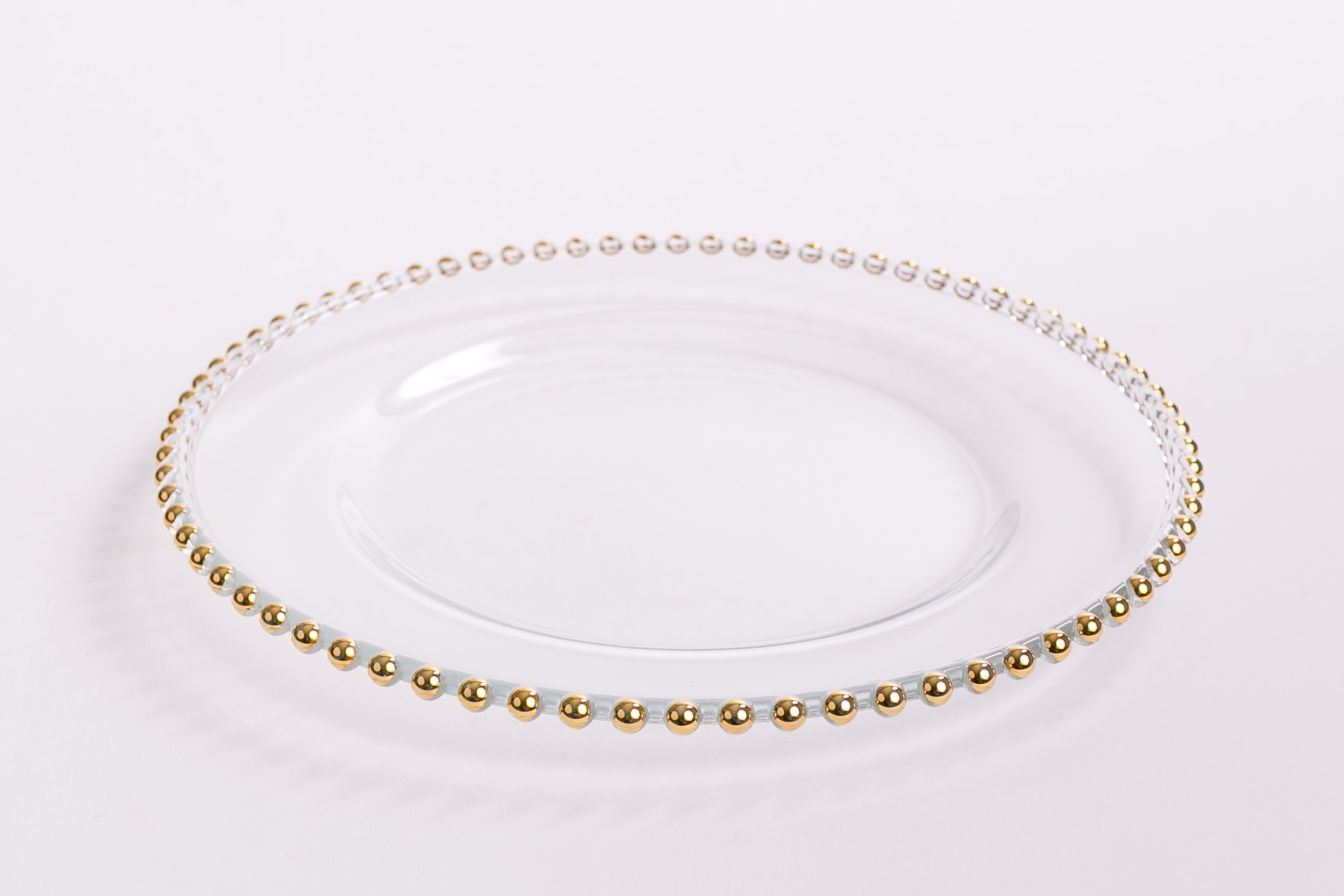 Glass Beaded Charger - Gold