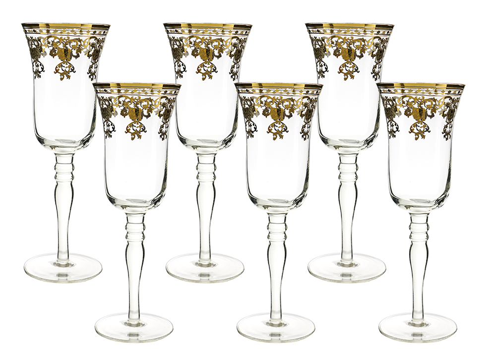 Gold Design Champagne Flute