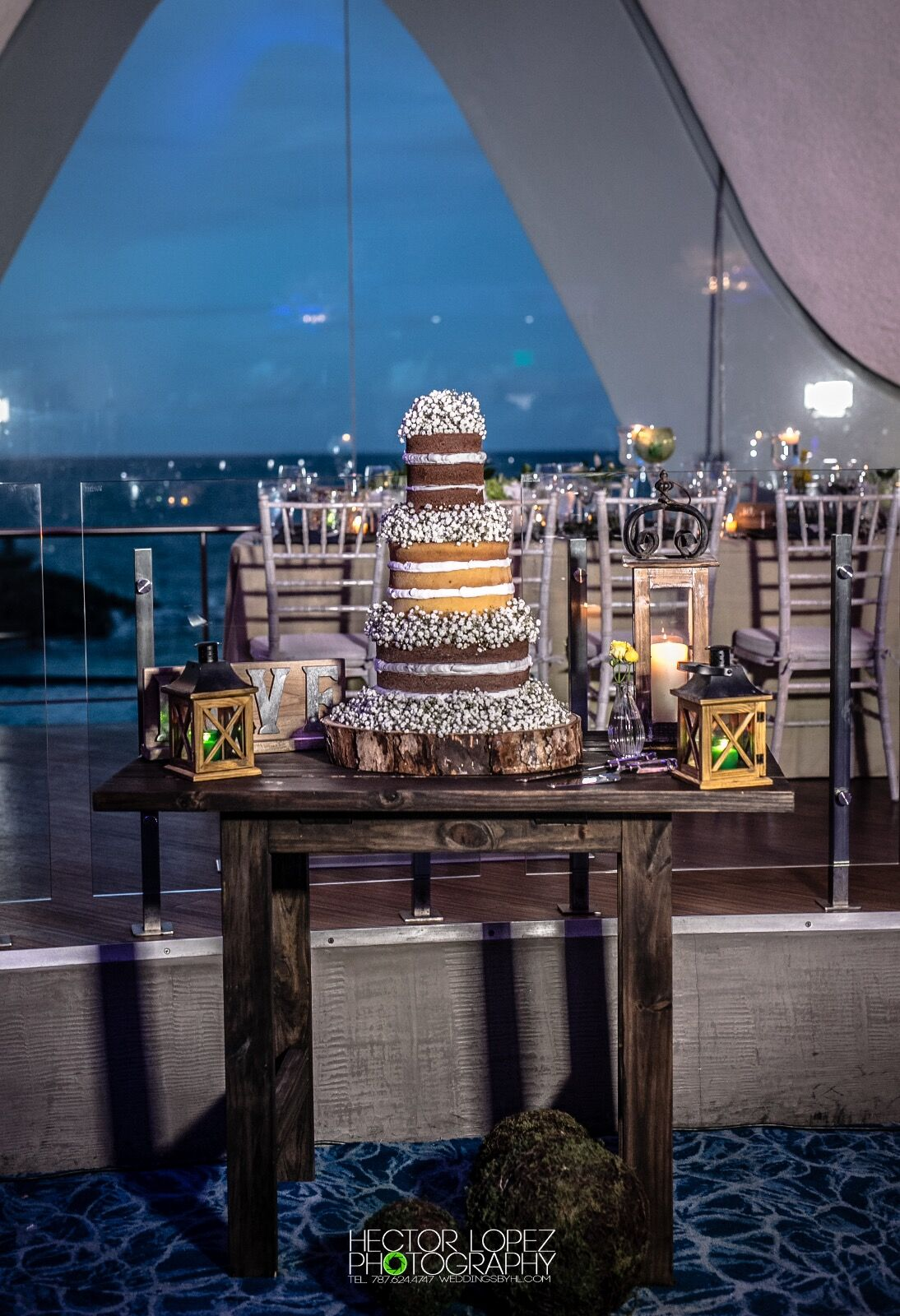 Rustic Wooden Cake Table