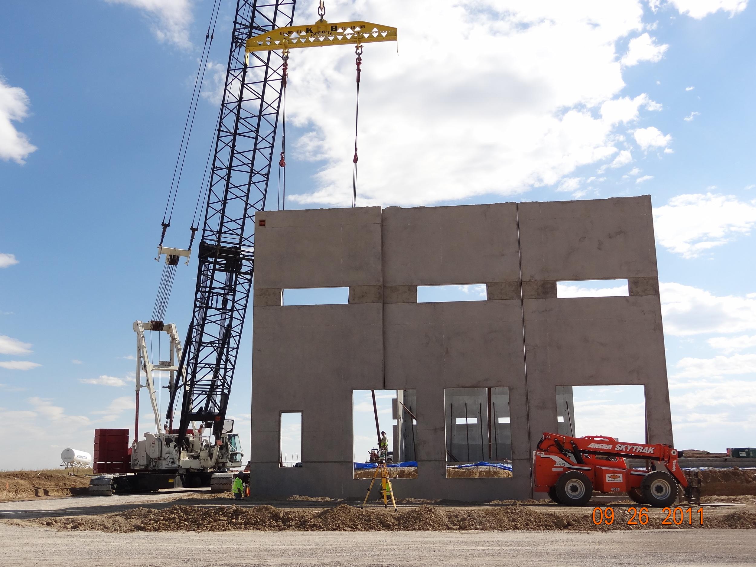 Tilt-Up During Construction