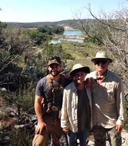 Ruthie Russell (center) owns Sycamore Canyon Ranch, which borders the Devils River.