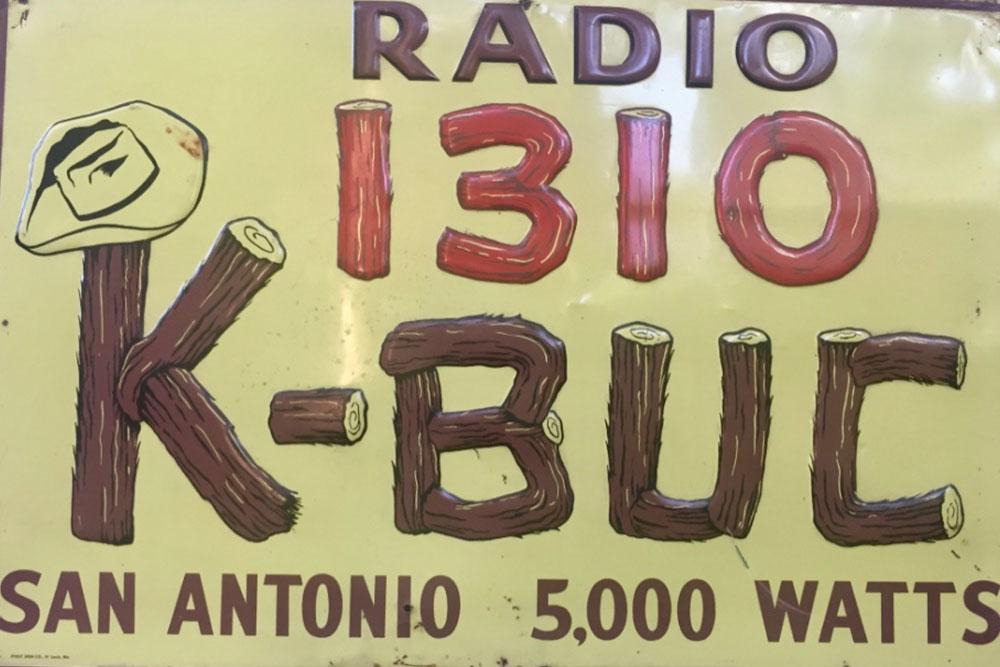 Vintage Radio Sign