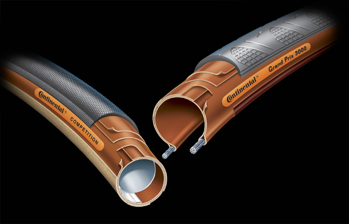 Continental Tubular and Clincher cutaways