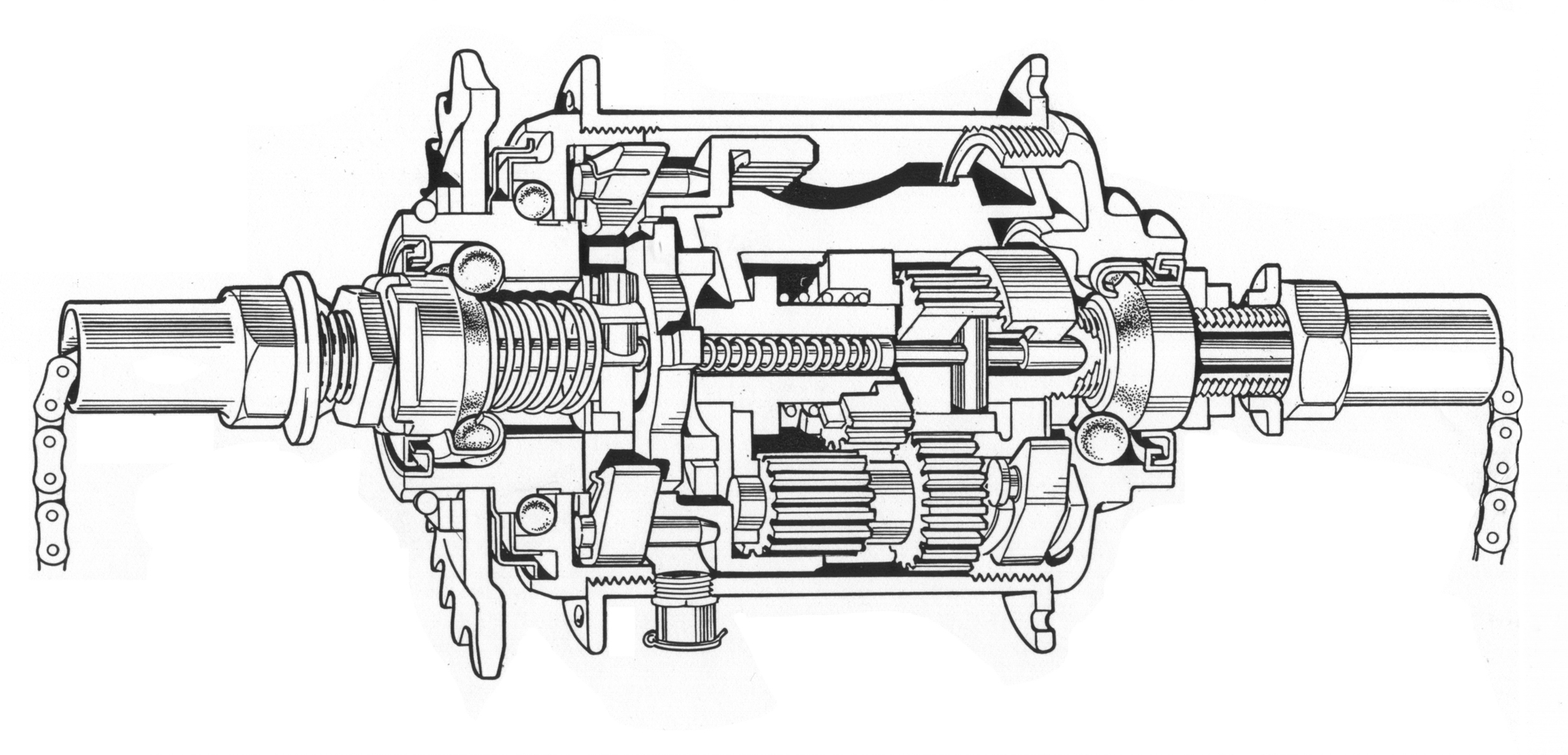 Bicycling Magazine - Sturmey Archer cutaway