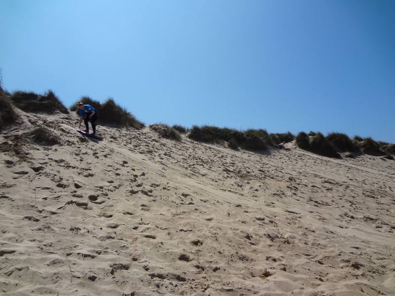 I managed to make it down without falling off!