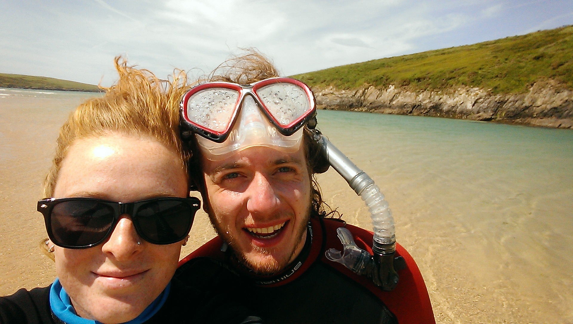 Despite being a lush warm day it was ridiculously windy and the beach sands whipped our face and legs!